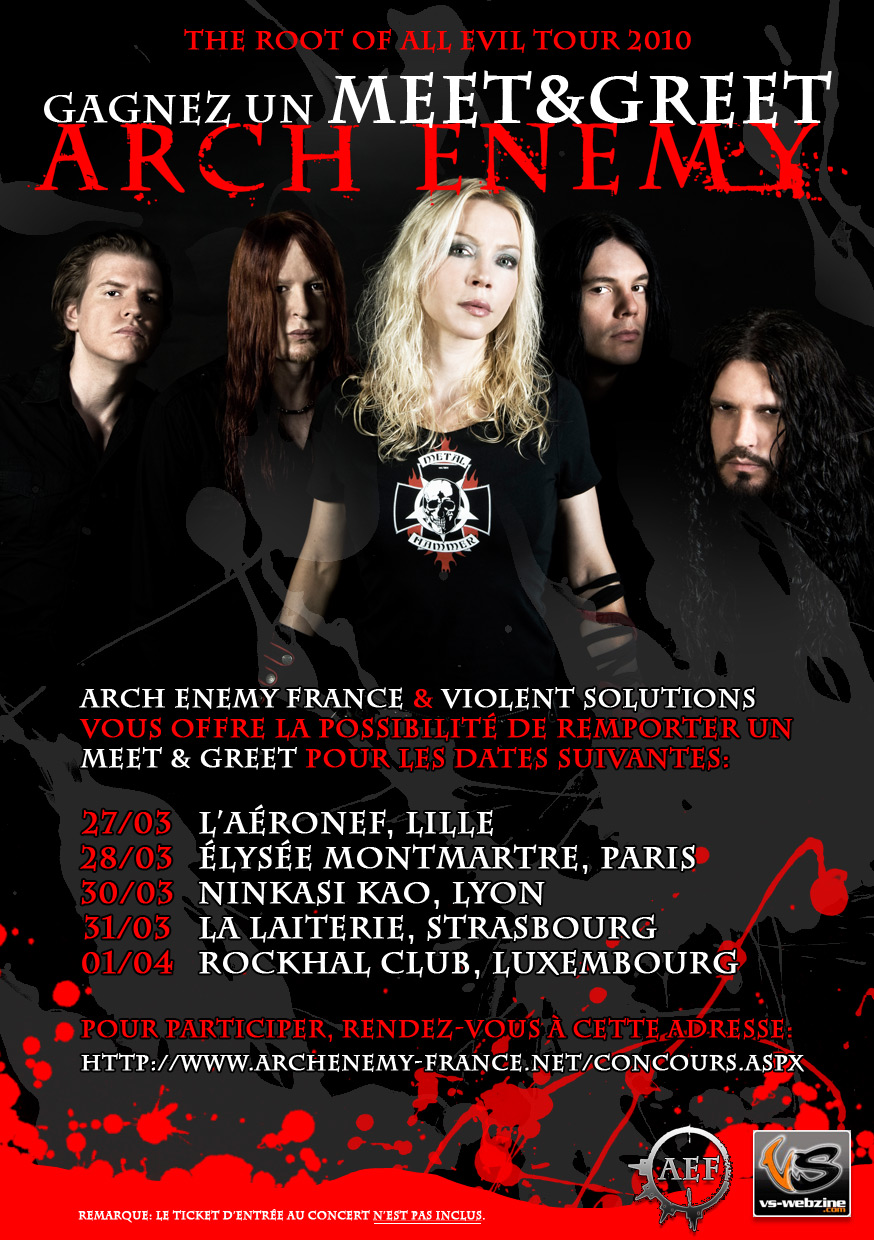 Arch Enemy Concours Meet & Greet